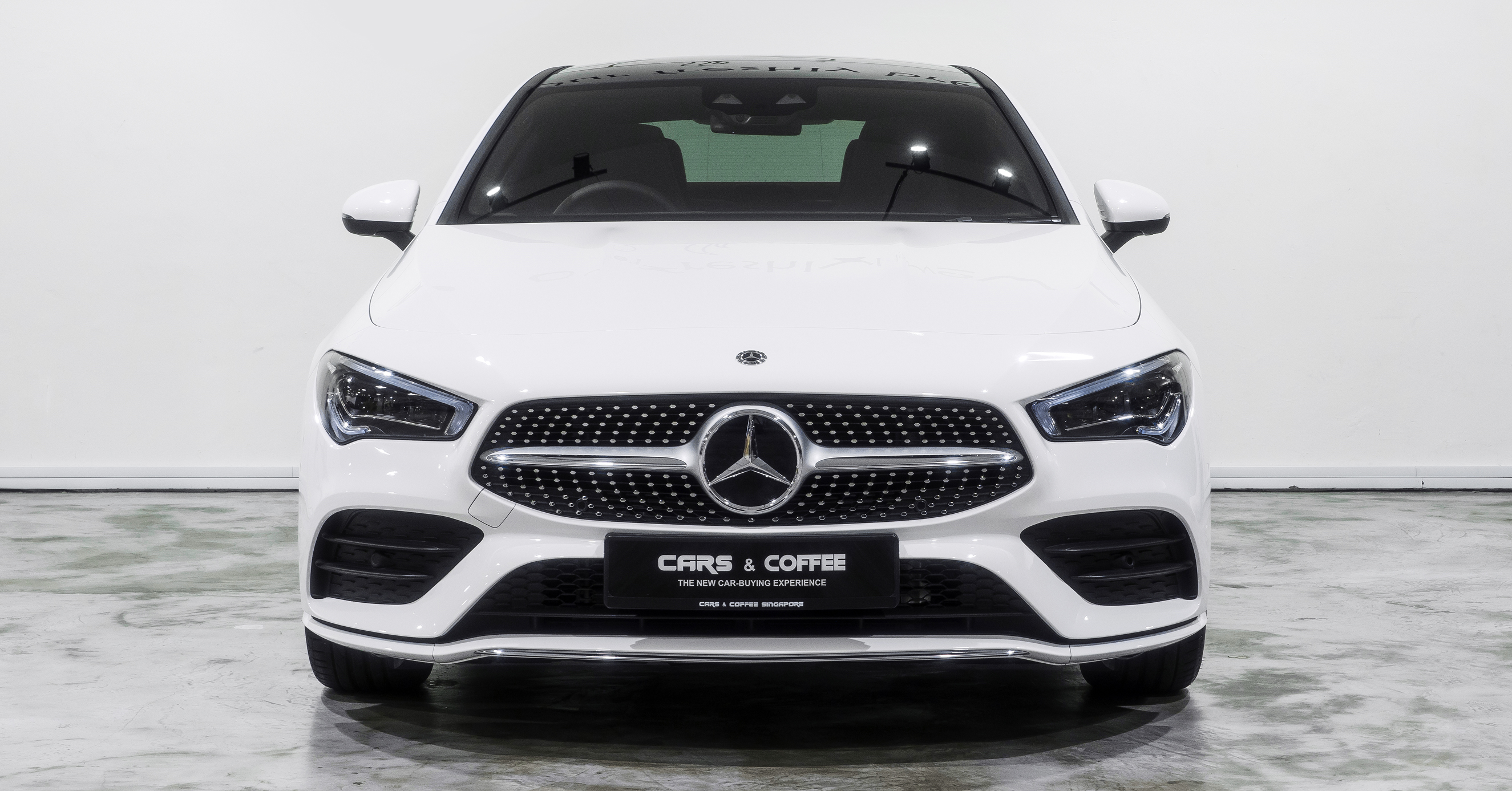 The new CLA has been designed with you in mind. With its eye-catching diamond radiator grille, frameless doors and swooping design, it's a car that stands out on the road.