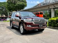 Certified Pre-Owned Toyota Land Cruiser 4.6A AX G-Selection | Cars and Coffee Singapore